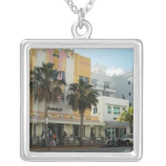 Barole Restaurante Square Pendant Necklace