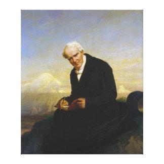 Baron Alexander von Humboldt by Julius Schrader Stretched Canvas Prints