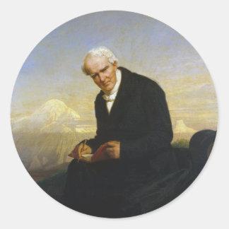 Baron Alexander von Humboldt by Julius Schrader Round Sticker