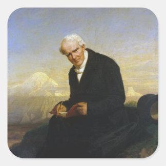 Baron Alexander von Humboldt by Julius Schrader Square Sticker