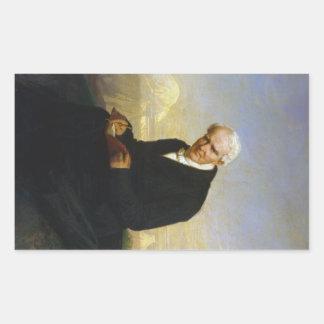 Baron Alexander von Humboldt by Julius Schrader Rectangular Sticker