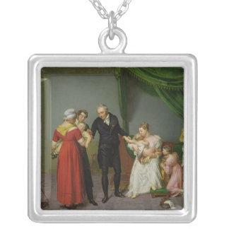 Baron Jean Louis Alibert Silver Plated Necklace