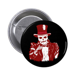Baron Samedi 6 Cm Round Badge
