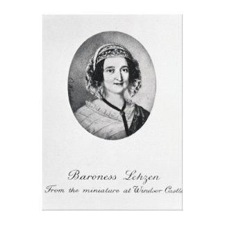 Baroness Louise Lehzen Canvas Print