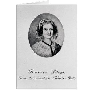 Baroness Louise Lehzen Card
