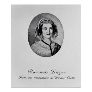 Baroness Louise Lehzen Poster