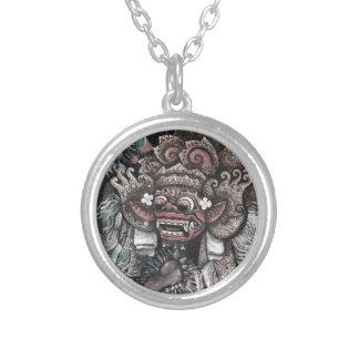 Barong and Rangda Bali Silver Plated Necklace