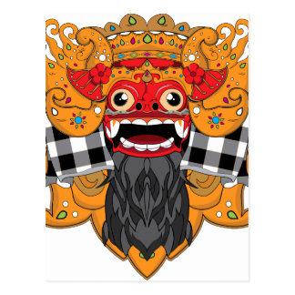 Barong Bali Postcard