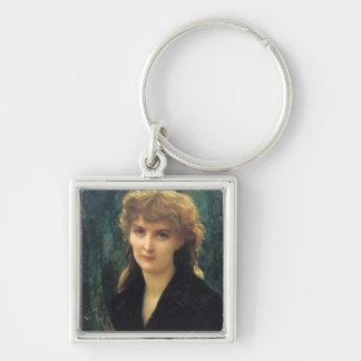 Baronness Eleonore d'Uckermann  1884 Silver-Colored Square Key Ring