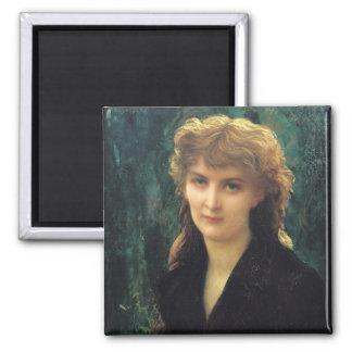Baronness Eleonore d'Uckermann  1884 Square Magnet