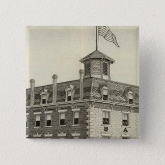 Barons House, Concordia, Kansas 15 Cm Square Badge