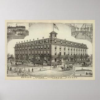 Barons House, Concordia, Kansas Poster