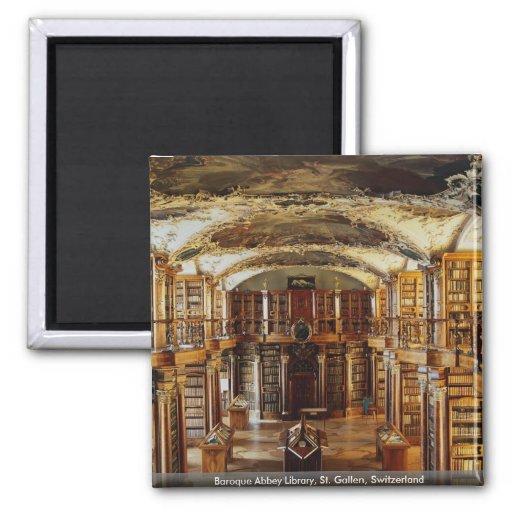 Baroque Abbey Library, St. Gallen, Switzerland Refrigerator Magnet