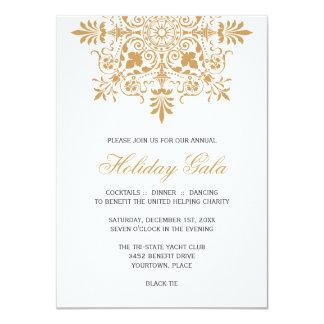 Baroque Amber Ornamental Holiday Gala 11 Cm X 16 Cm Invitation Card