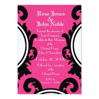 Baroque Black (Magenta) Wedding Invitation