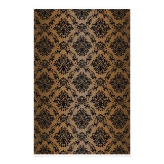 Baroque Brown Victorian Scrapbook Paper