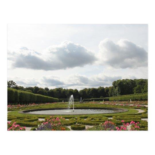 Baroque Castle Garden - Augustusburg Palace Postcard