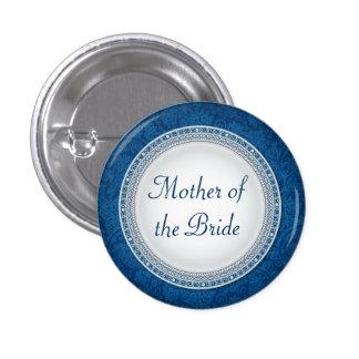 Baroque Cobalt Plaque Wedding Role Button