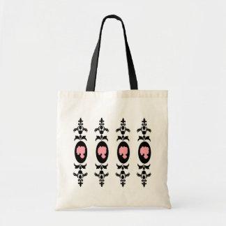 Baroque Damask Cameo Tote Bag