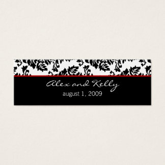 Baroque Damask Wedding Website Business Card