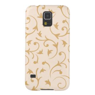 Baroque Design Gold on Cream Galaxy S5 Cover