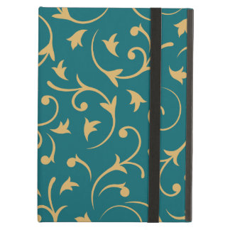 Baroque Design – Gold on Teal iPad Air Case
