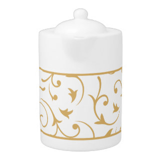Baroque Design Gold on White