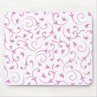 Baroque Design – Pink & White Mouse Mat