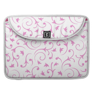 Baroque Design – Pink & White Sleeve For MacBook Pro