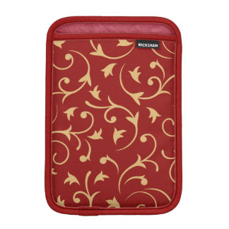 Baroque Design Red & Gold iPad Mini Sleeve
