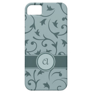 Baroque Design with Personalised Band in Greys iPhone 5 Case