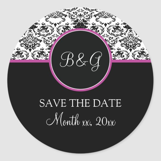 Baroque Elegance Save The Date Sticker