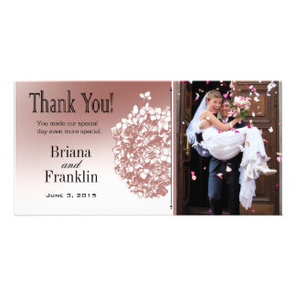 Baroque Flowerball Photo Thank You Personalized Photo Card