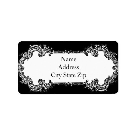 Baroque Frame Address Address Label