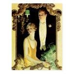 Baroque Frame Formal Couple Postcard