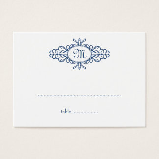Baroque frame monogram wedding escort place card