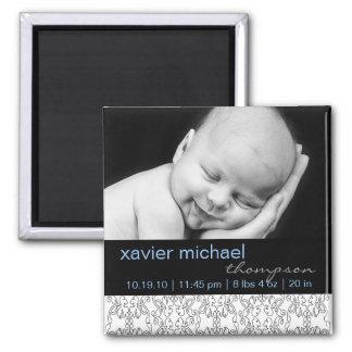 Baroque in White Baby Boy Photo Magnet