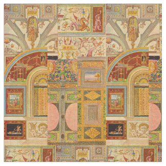 baroque Italian motifs collage Fabric