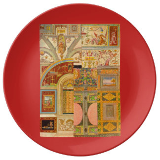 baroque Italian motifs collage Plate