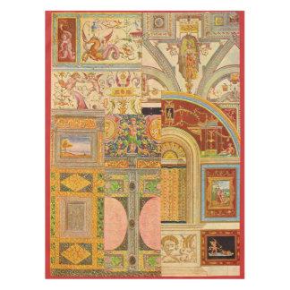 baroque Italian motifs collage Tablecloth