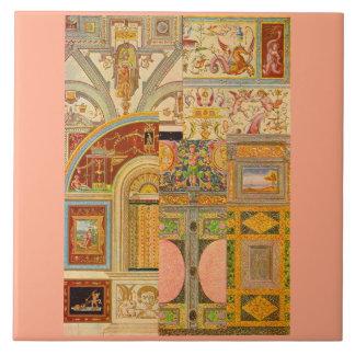 baroque Italian motifs collage Tile