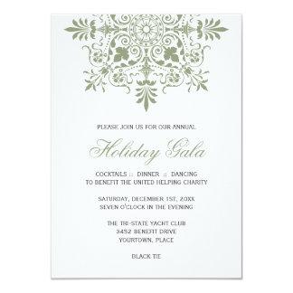 Baroque Jade Ornamental Holiday Gala Card