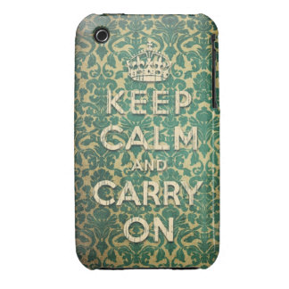 baroque keep calm and carry on iPhone 3 cover