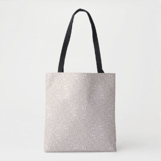 baroque lace pattern tote bag
