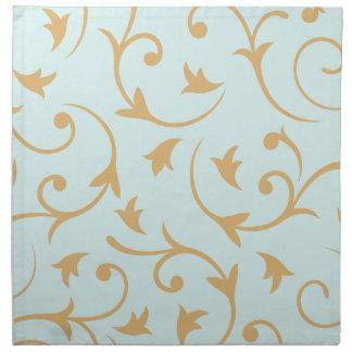 Baroque Large Design Blue & Gold Napkin