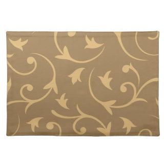 Baroque Large Design Gold & Bronze Placemat