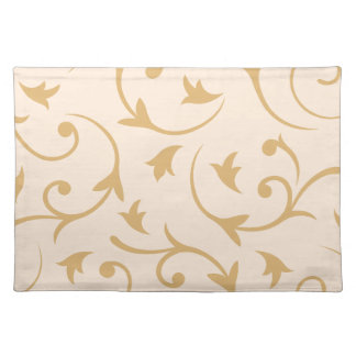 Baroque Large Design Gold & Cream Placemat