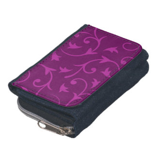 Baroque Large Design in Plums (a) Wallet