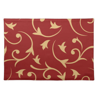 Baroque Large Design Red & Gold Place Mats