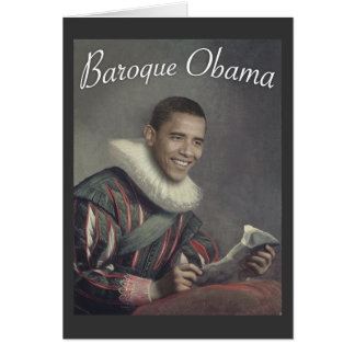 Baroque Obama Card